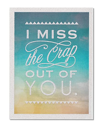 Amazon american greetings funny miss you thinking of you card american greetings funny miss you thinking of you card with glitter 5856786 m4hsunfo