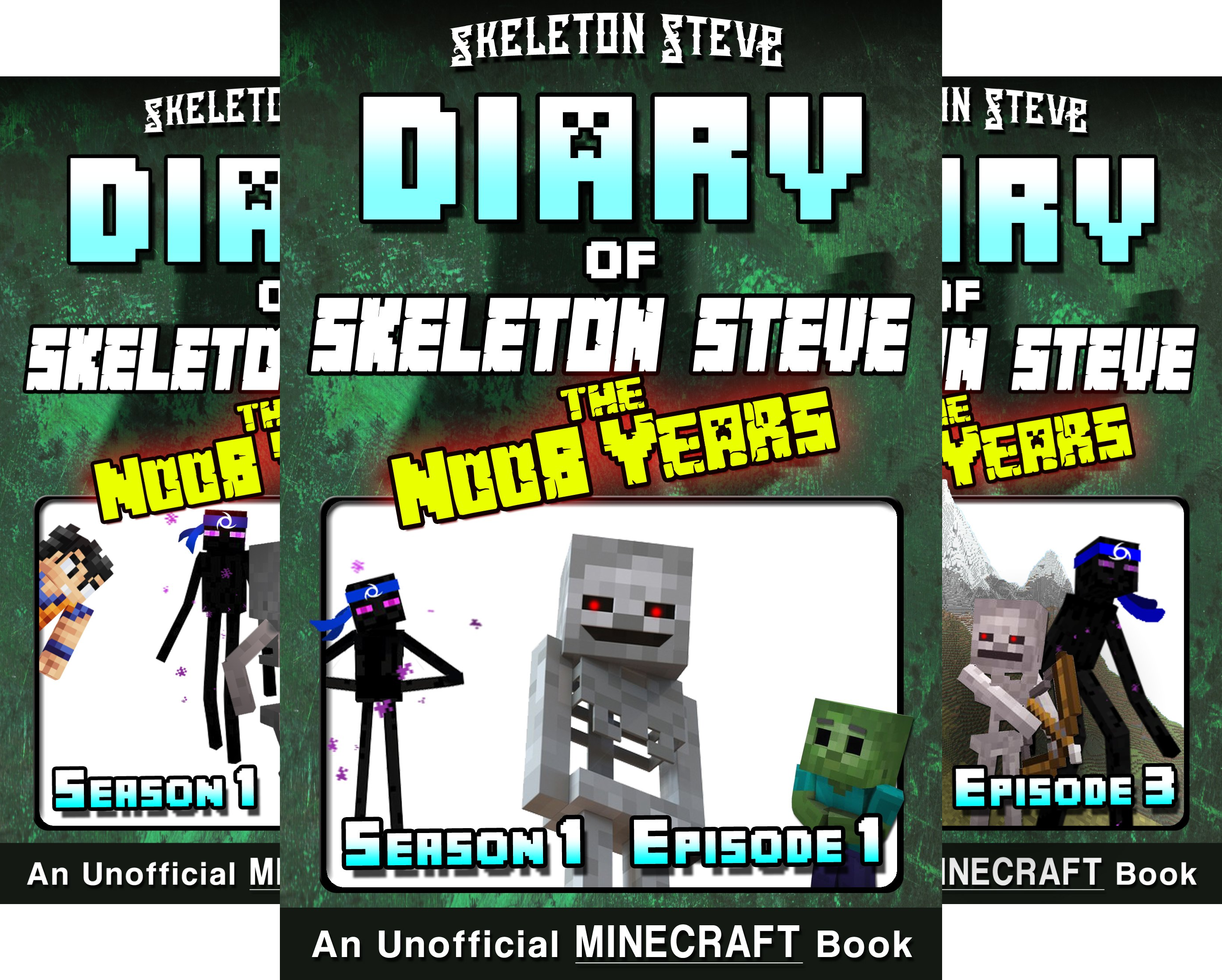 Skeleton Steve & the Noob Mobs Minecraft Diaries Collection - Skeleton Steve the Noob Years (12 Book Series)