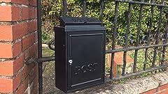 Black Wall Mounted Mailbox Large 18