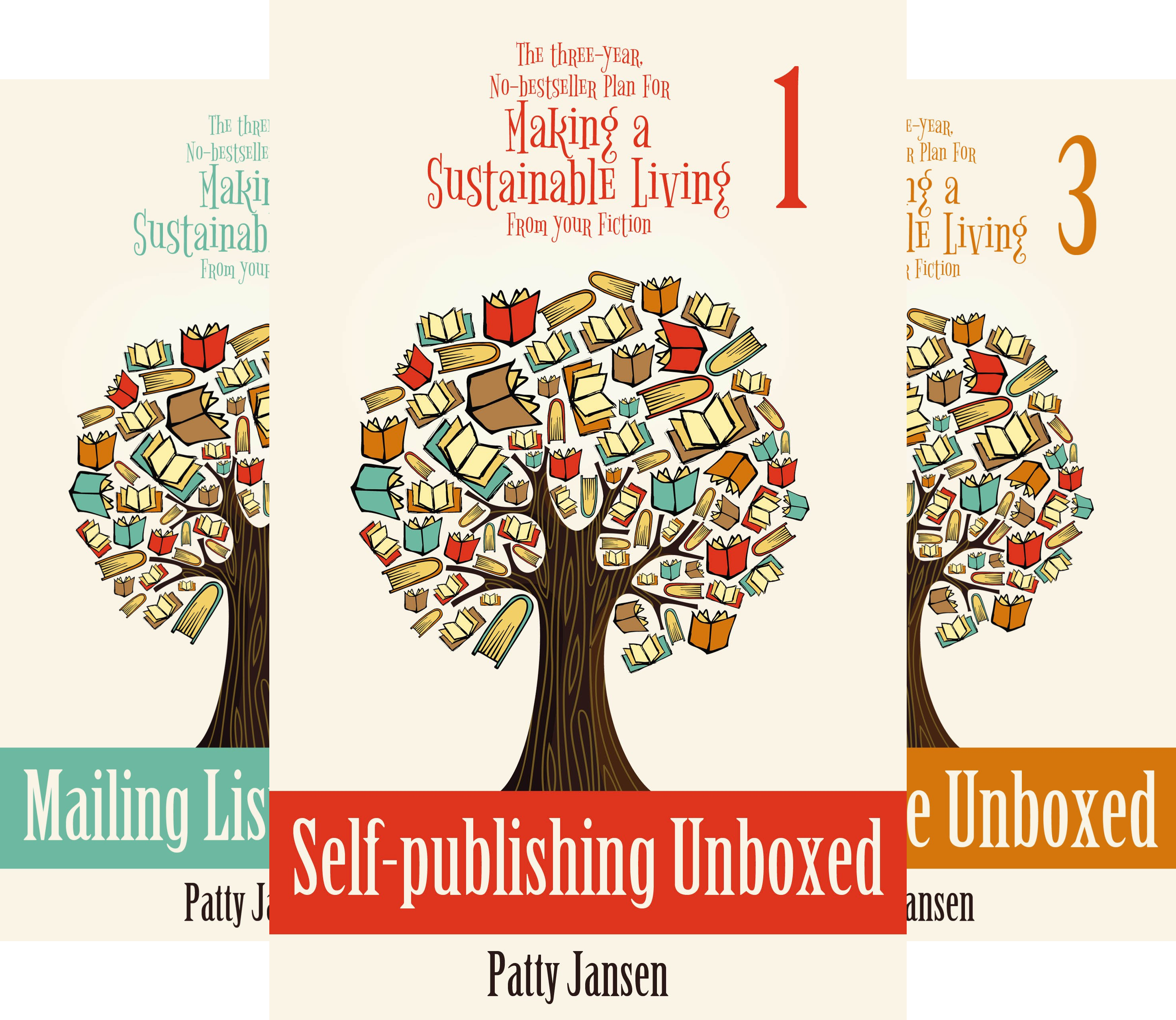 The Three--year, No-bestseller Plan For Making a Sustainable Living From Your Fiction (3 Book Series)