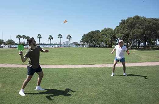 Lawn or Tailgating for Windy Conditions or Advanced Players Played Outdoors at The Beach Funsparks Jazzminton Wind Birdies or Shuttlecocks