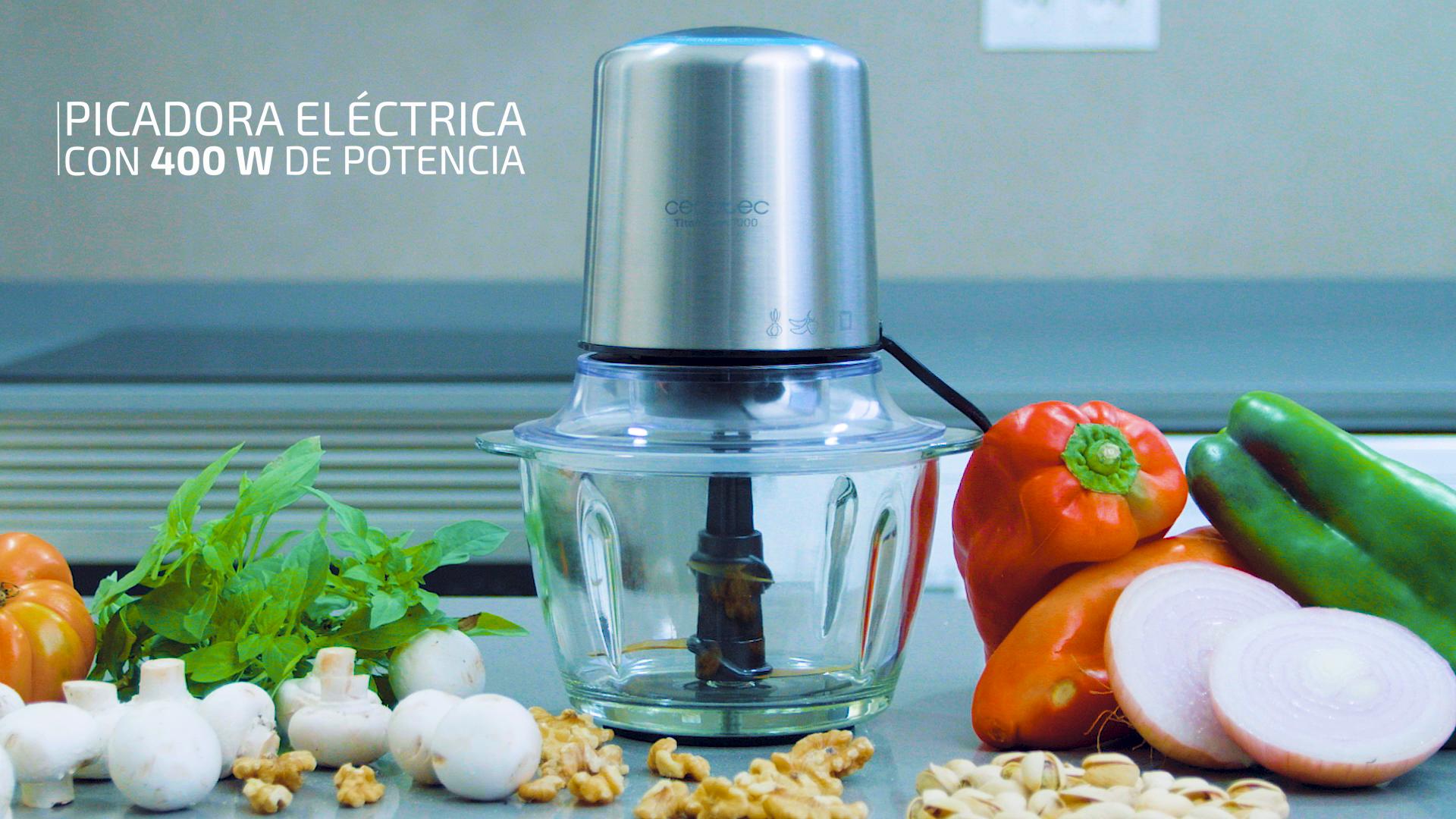 Cecotec Picadora Eléctrica TitanGlass 1000. Multifuncion (Pica ...