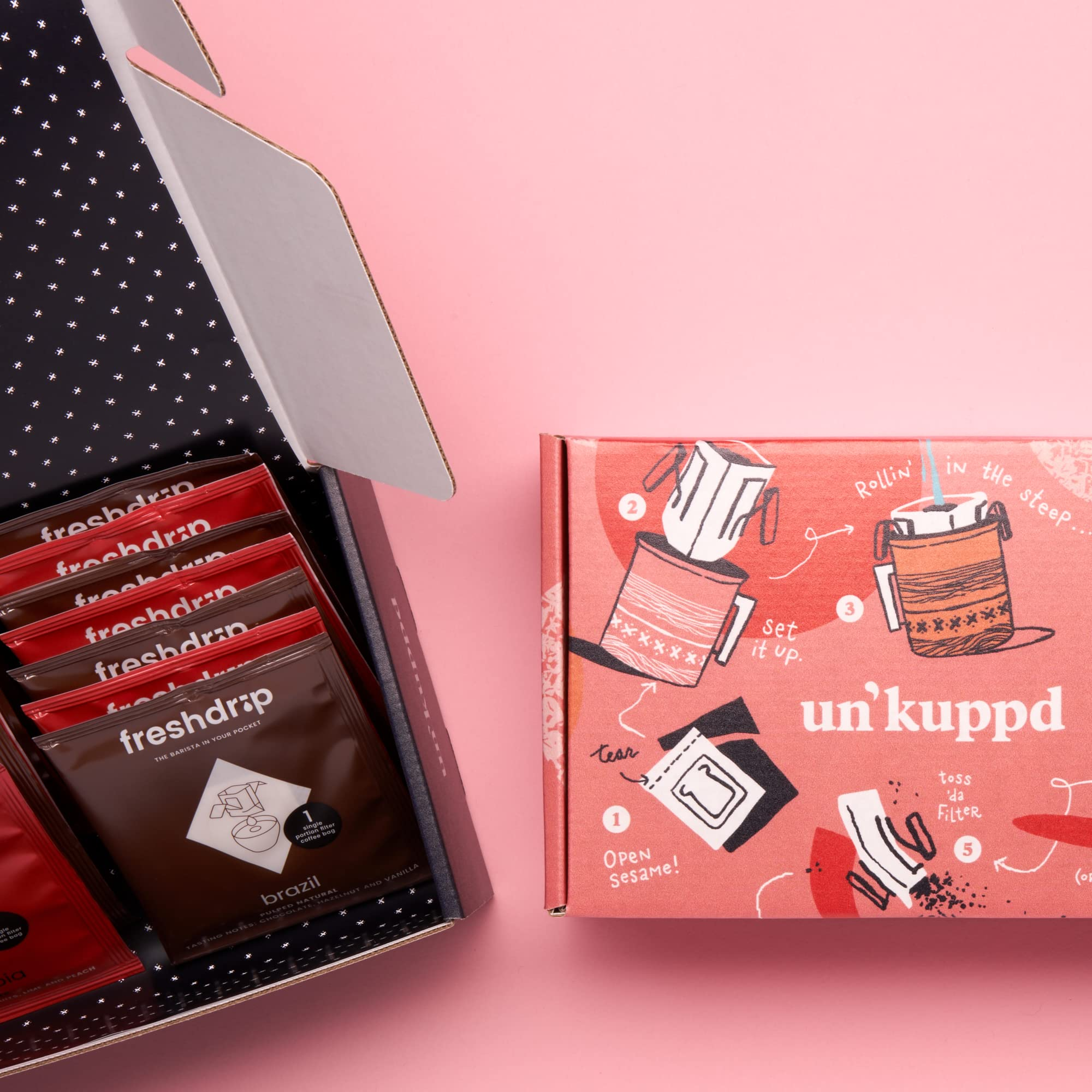 Amazon Com Un Kuppd Pour Over Coffee Barista Approved Pour Over Coffee Subscription 15 Pack Box Memberships And Subscriptions