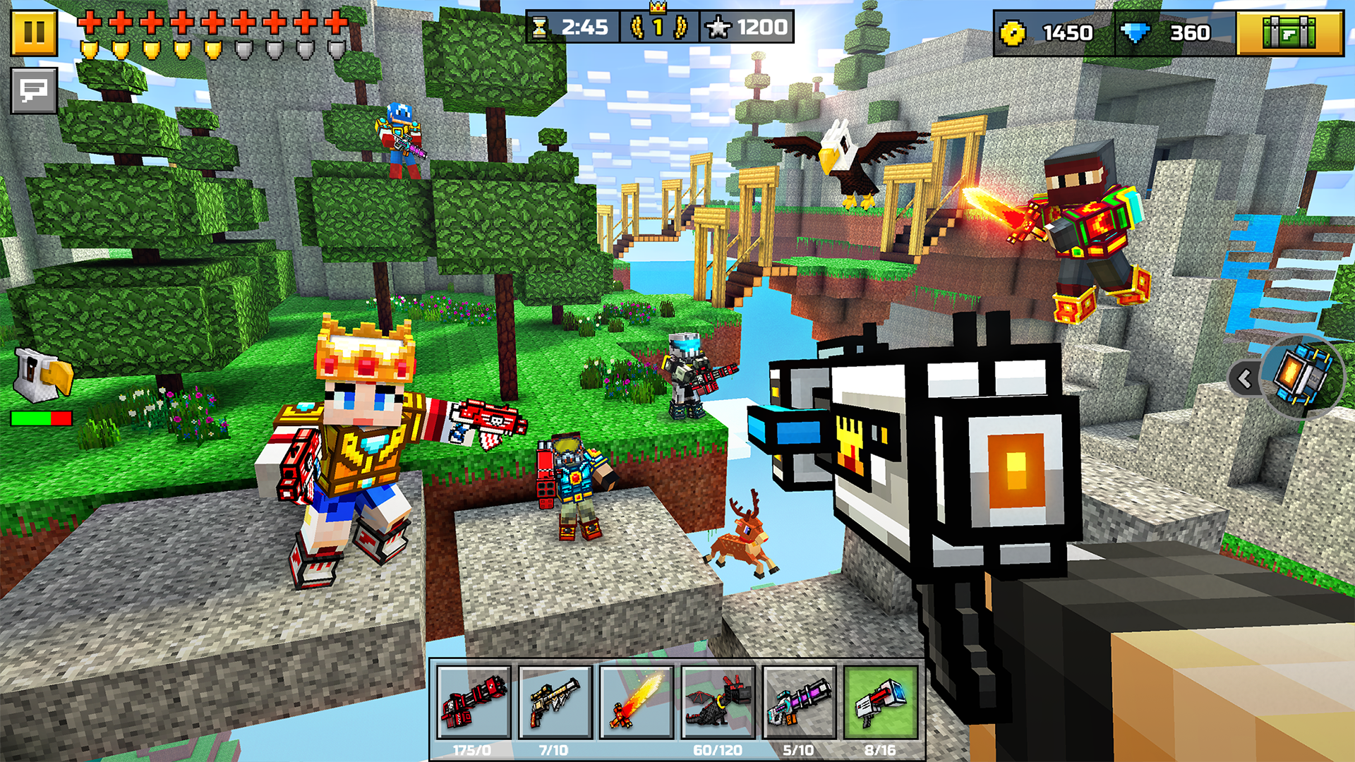 Amazoncom Pixel Gun D Pocket Edition Multiplayer Shooter With - Minecraft 2d spielen ohne download