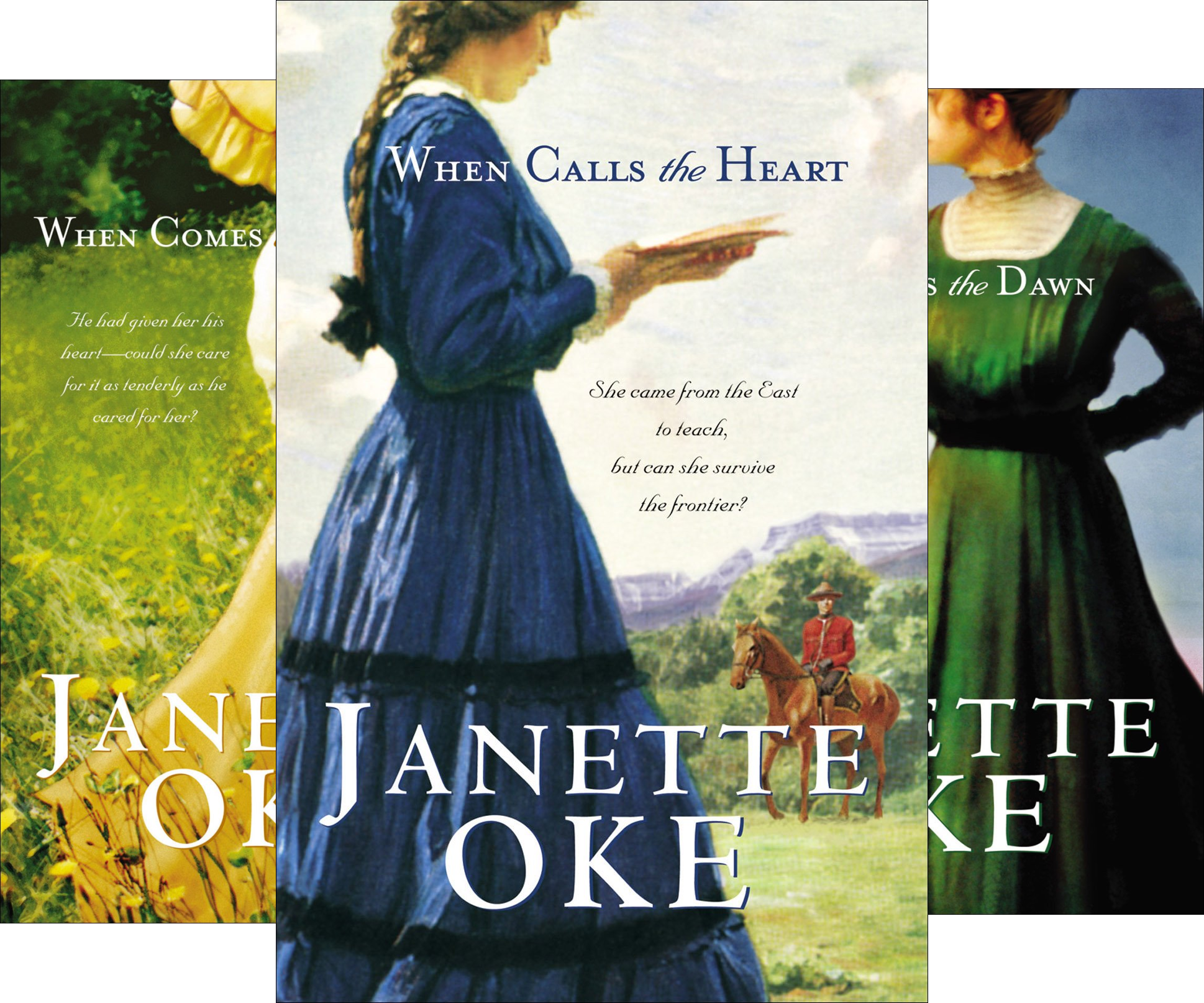 Janette Oke - Canadian West: When-Calls the Heart, Comes the Spring, Breaks the Dawn, Hope Springs New (Canadian West Series) (4 Book Series)