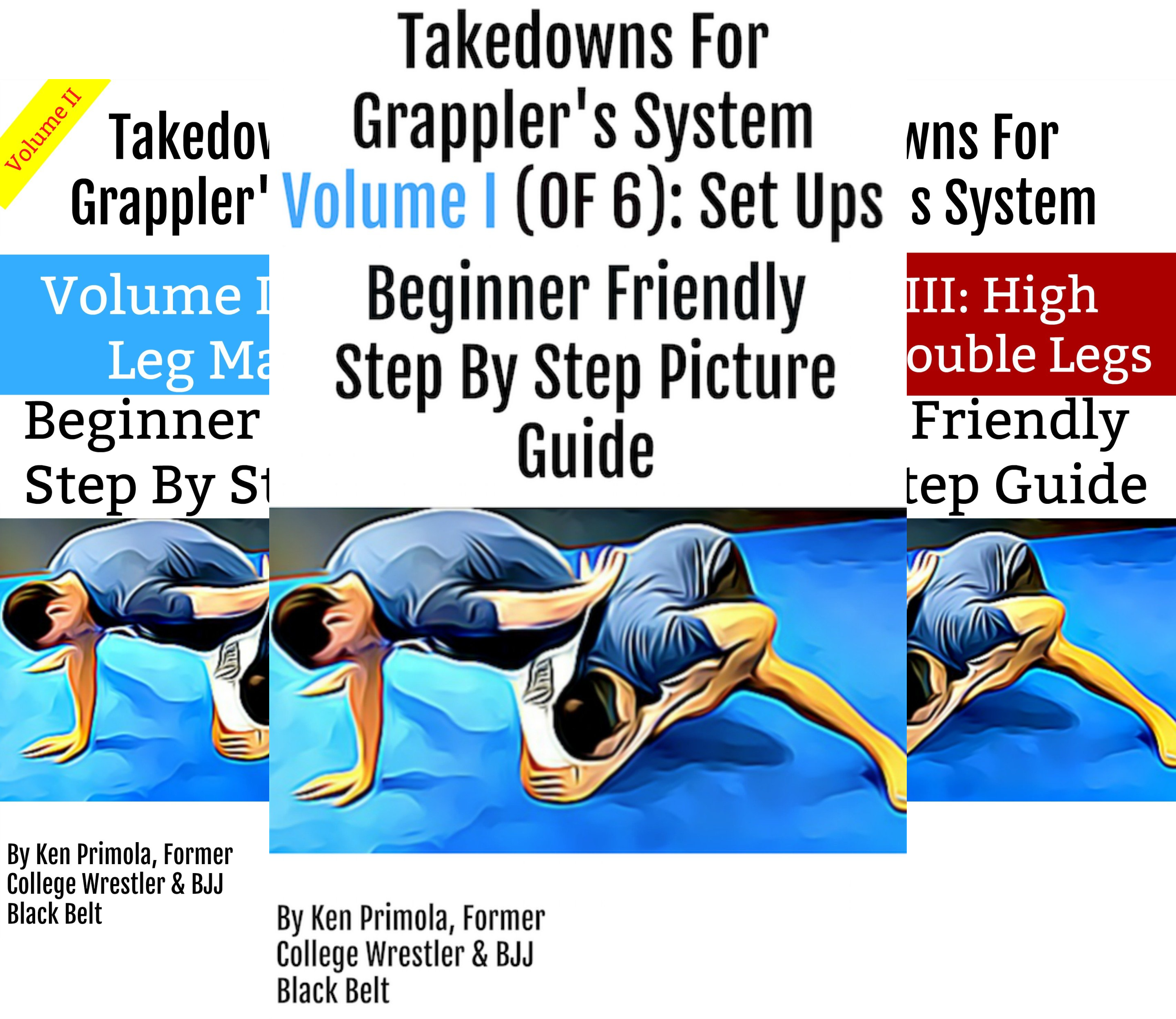 Takedowns For Grapplers (3 Book Series)