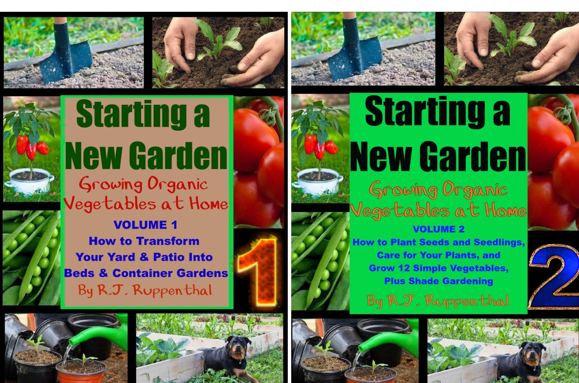 Growing Organic Vegetables at Home (2 Book Series)