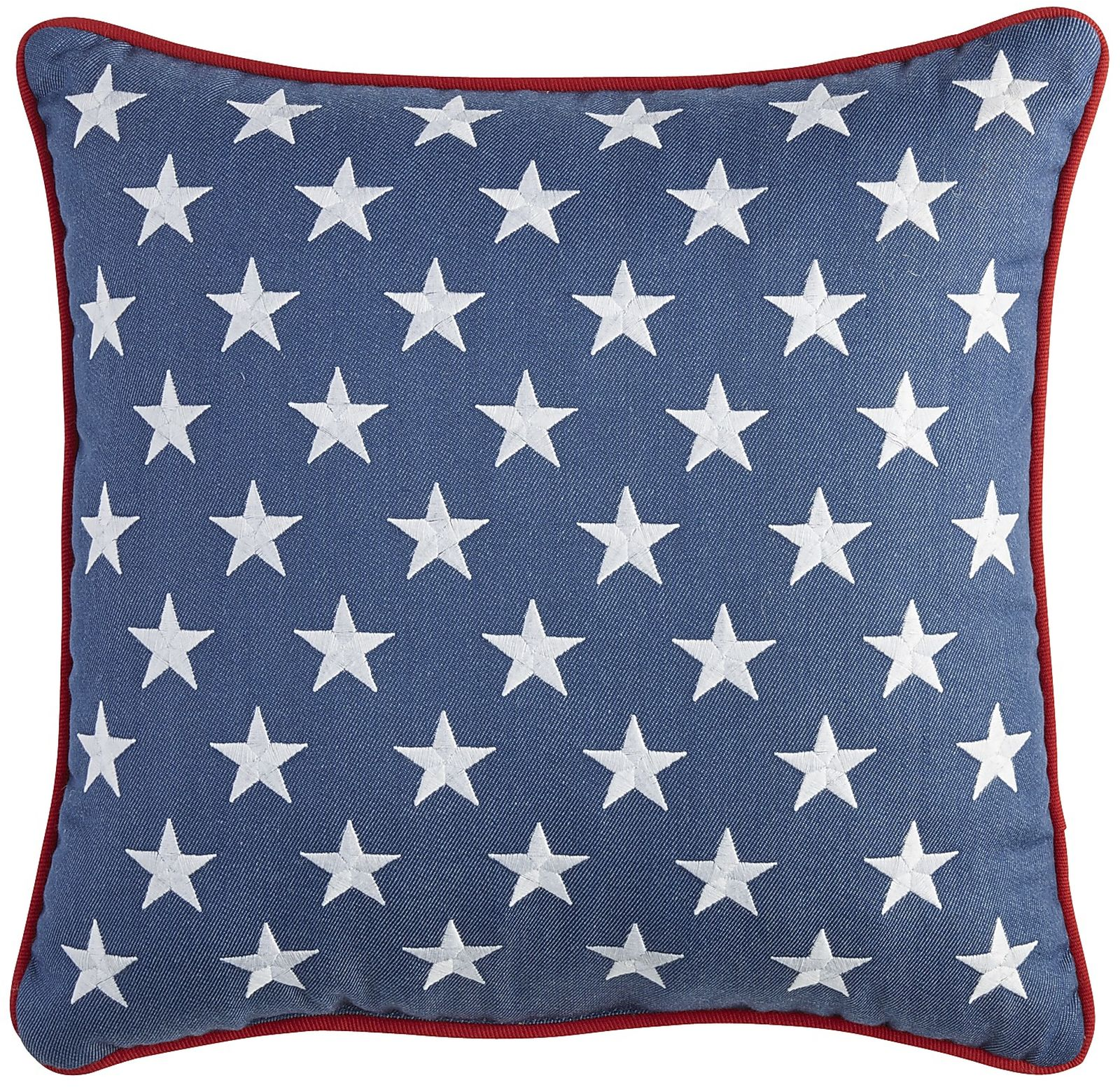 Stars Embroidered PIllow - Denim | Pier 1 Imports