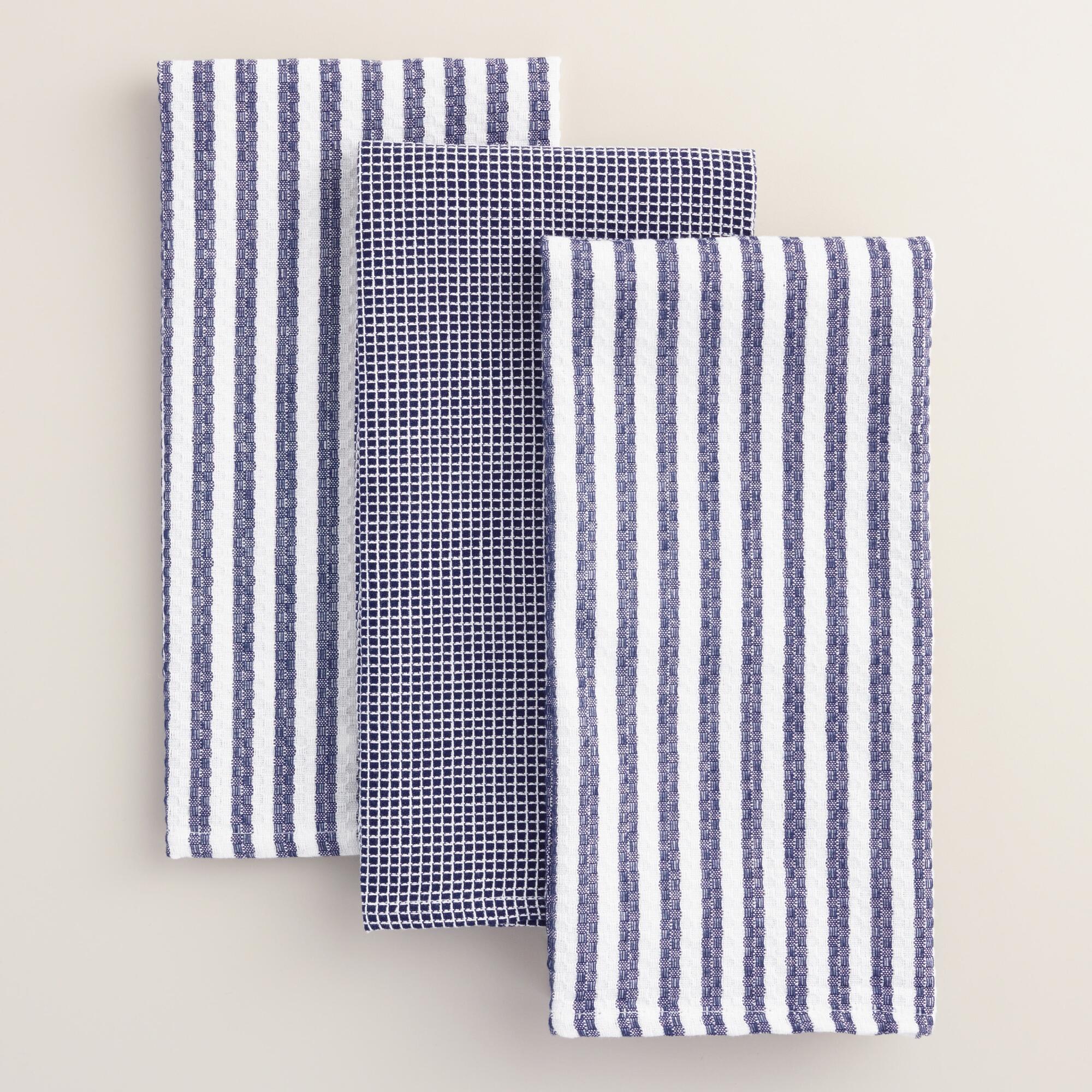 Waffle Weave Kitchen Towels Set of 3 | World Market