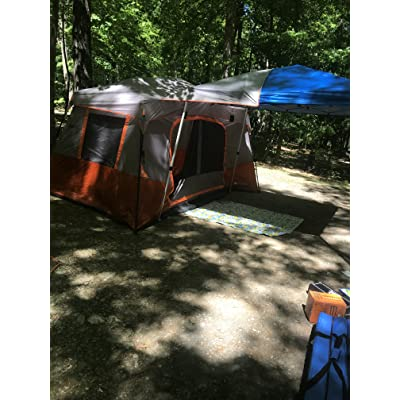 Details about  /Camping Tent Outdoor Picnic Travel Family Cabin House 11 Person 3 Room Orange