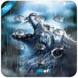 Rain Wolf Keypad Lock Screen Wallpaper - New Locker Phone