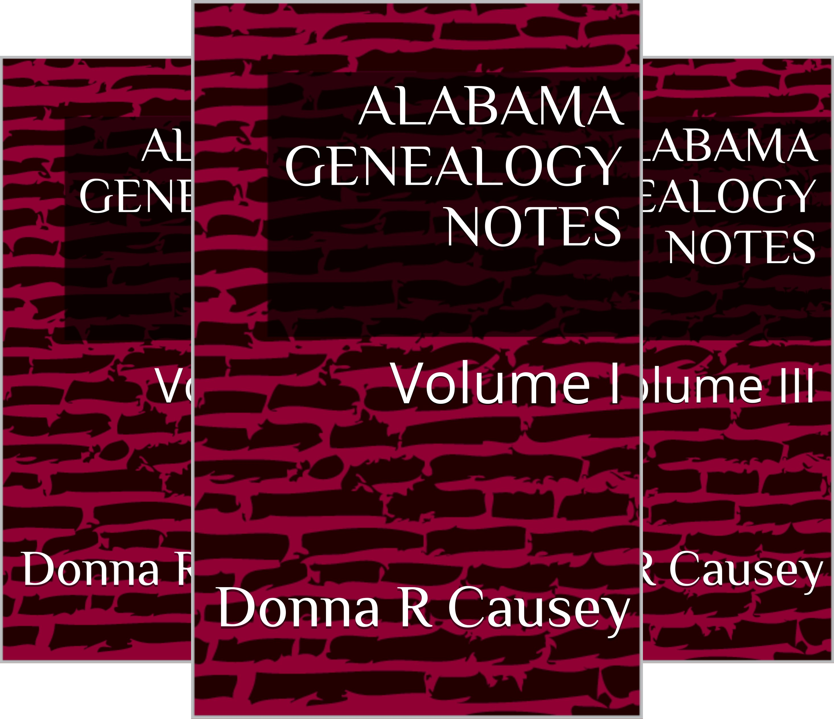 ALABAMA GENEALOGY NOTES (9 Book Series)