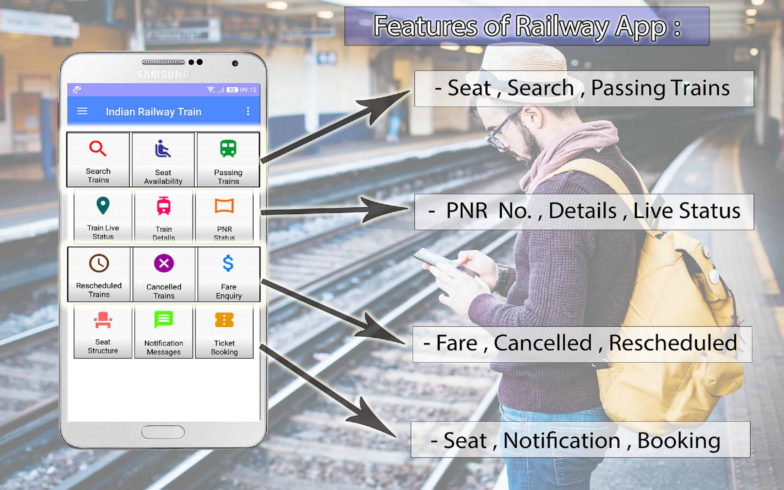 Amazon com: Search Train, Live Status ,PNR & Train IRCTC