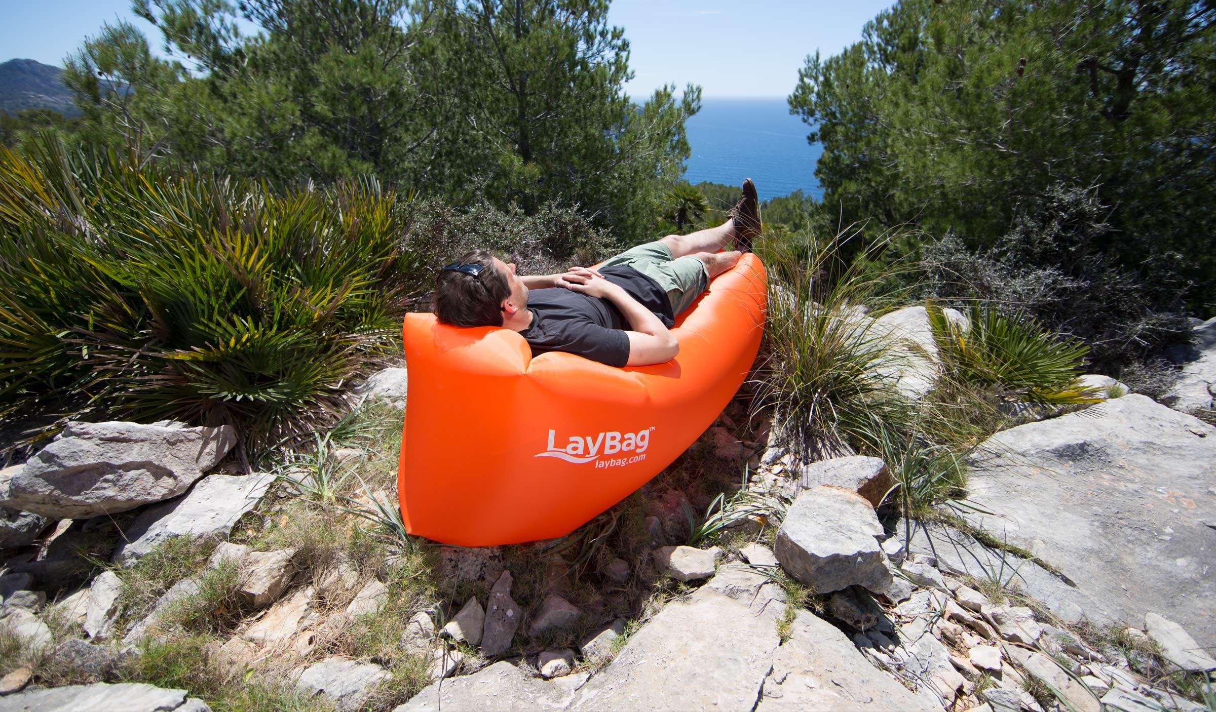 Lay Bag™ | BLACK Inflatable Air Sofa Lounge – LayBag