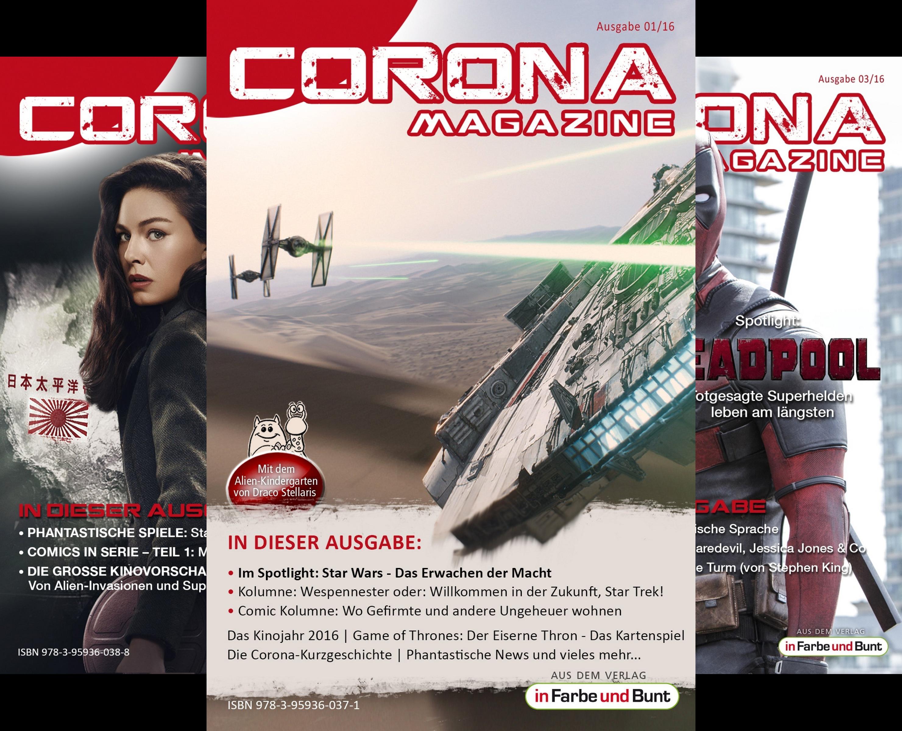 Corona Magazine 2016 (Reihe in 3 Bänden)