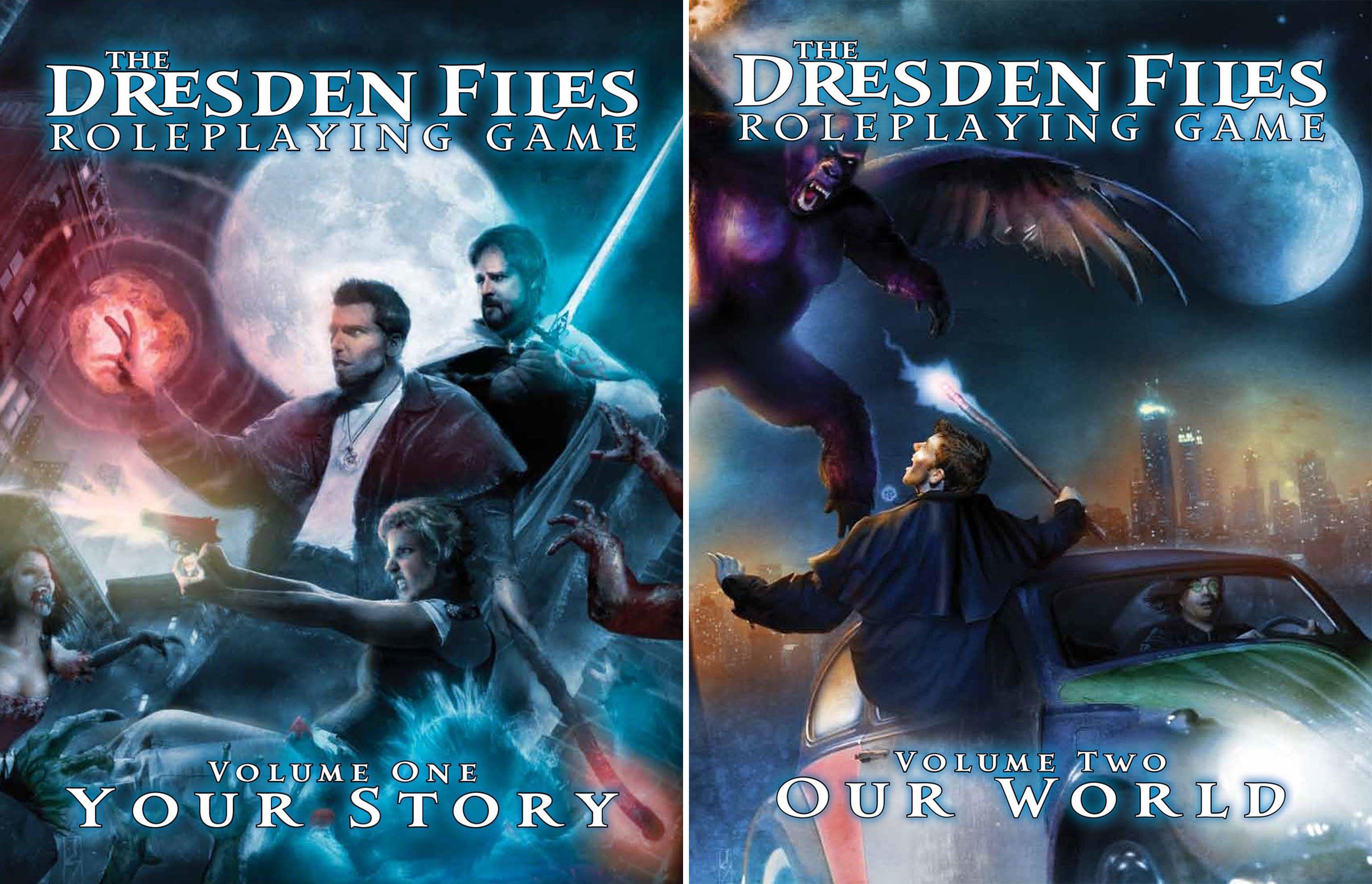 The Dresden Files Roleplaying Game (2 Book Series)