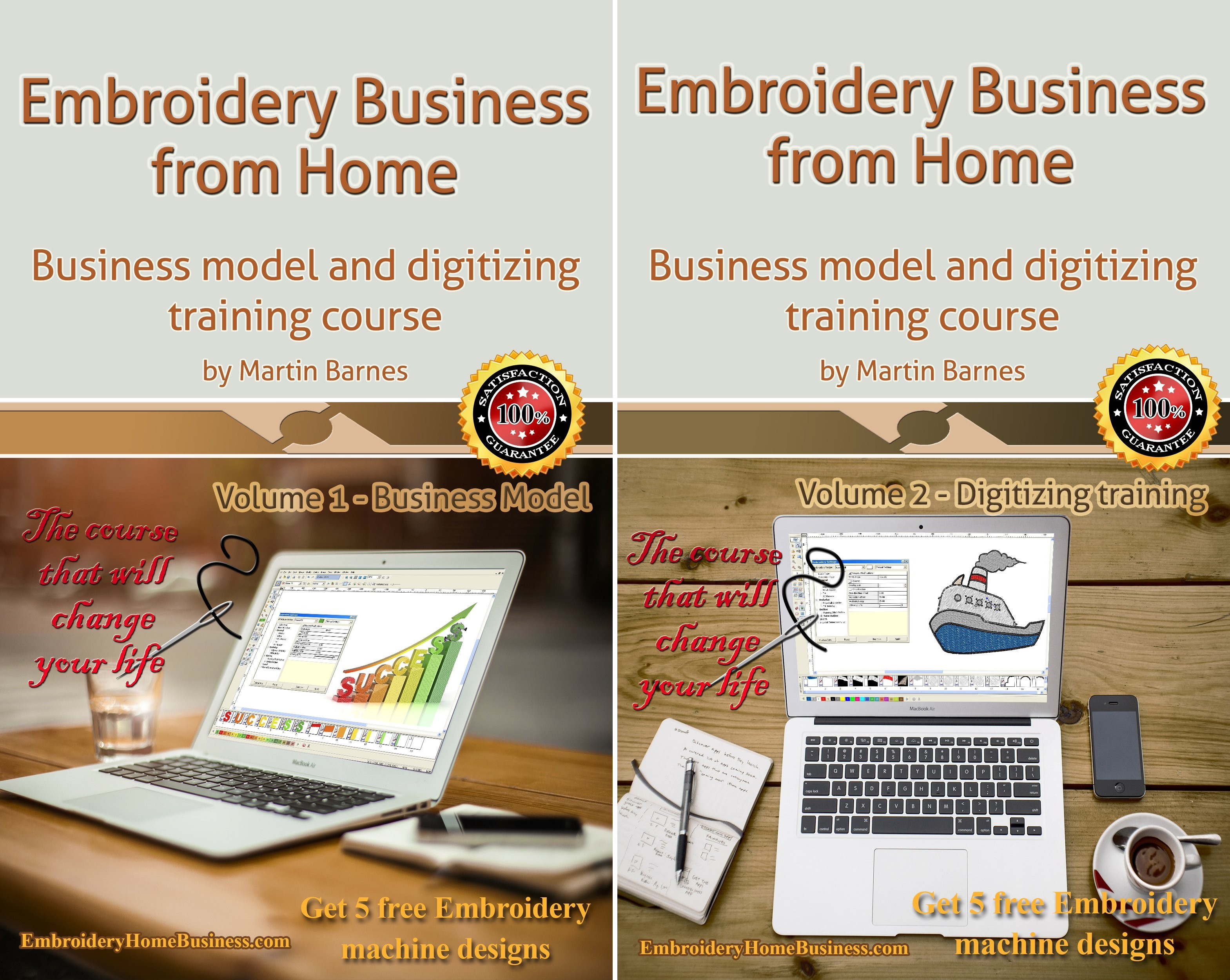 Embroidery Business from Home (2 Book Series)