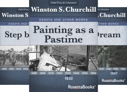 Winston Churchills Essays And Other Works Collection  Book Series Winston Churchills Essays And Other Works Collection  Book Series By Winston  Churchill Winston Interesting Persuasive Essay Topics For High School Students also Research Essay Proposal Template  Apa Essay Paper