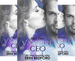 Vampire CEO Series (3 Book Series) by  Erin Bedford TakeCover Designs