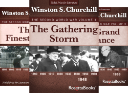 Winston Churchill World War II Collection (6 Book Series) by  Winston Churchill