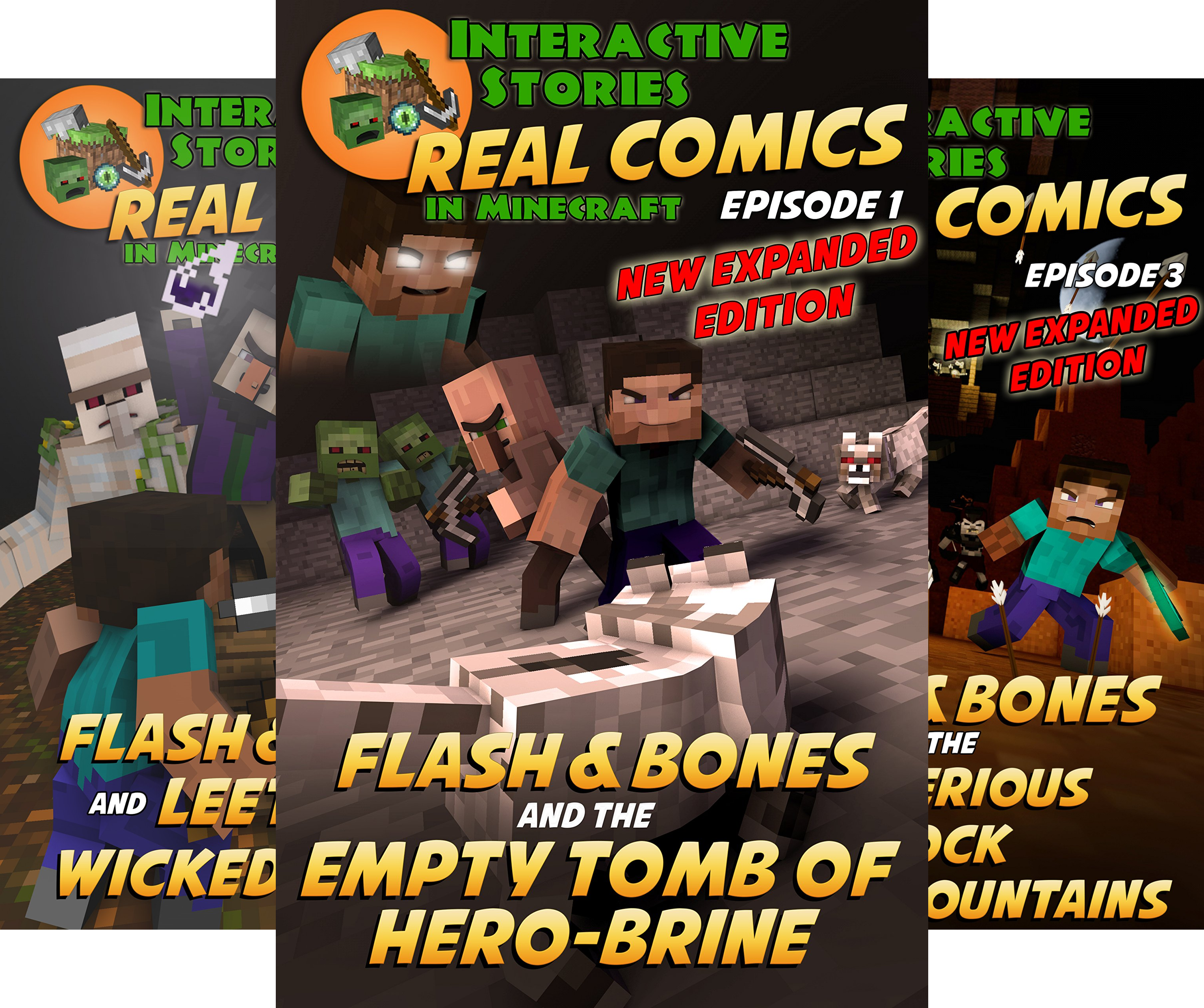 Real Comics in Minecraft - Flash and Bones (23 Book Series)