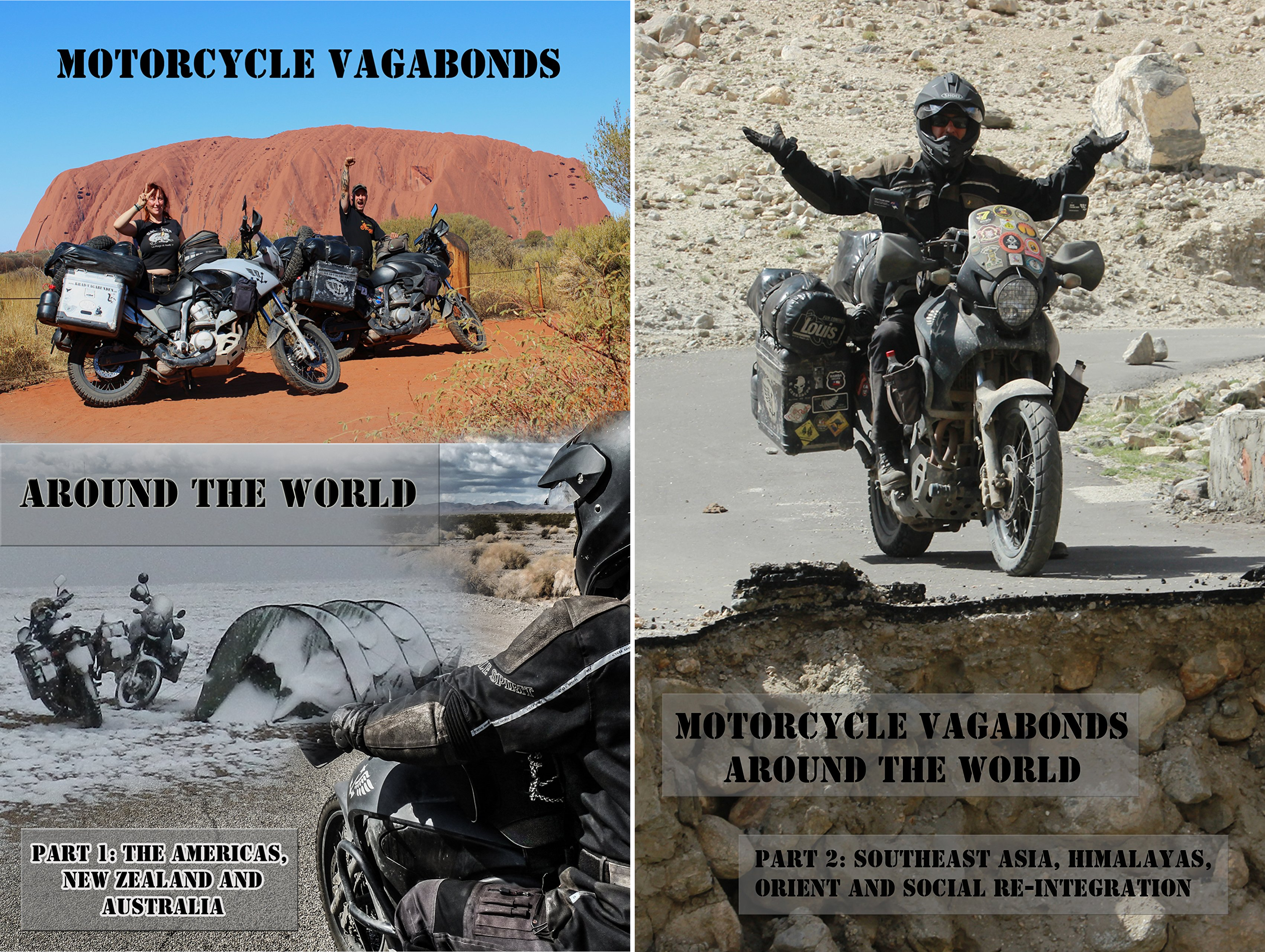 Motorcycle Vagabonds - Around the World (2 Book Series)