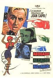 El abogado, el alcalde y el notario Poster