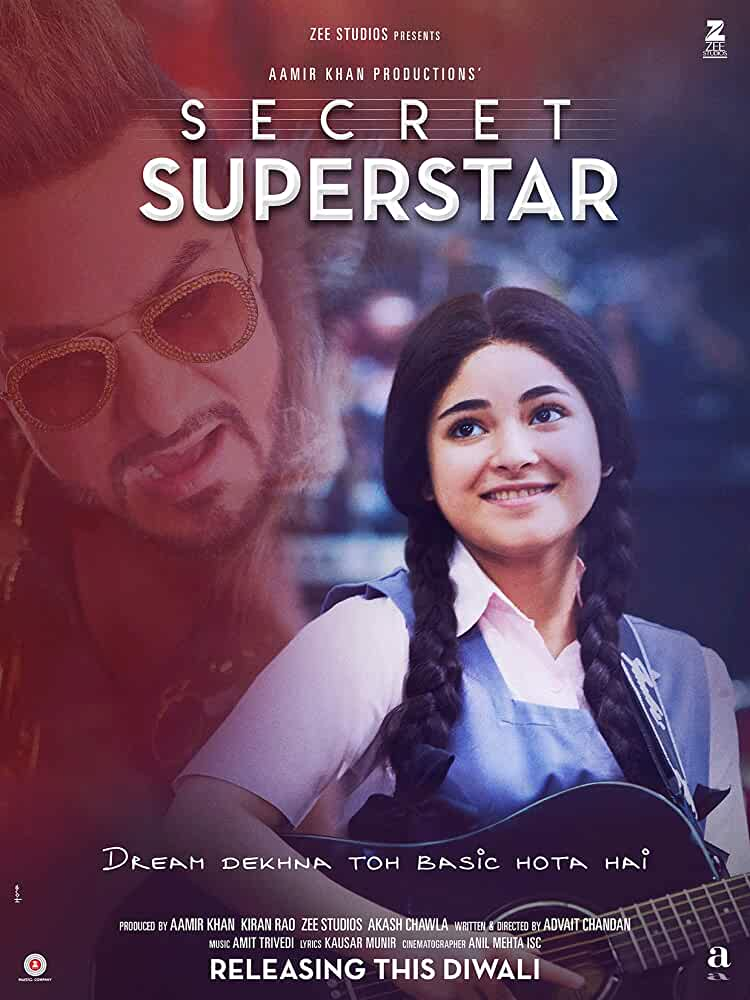 Secret Superstar (2017) Full Movie Hindi 720p HDRip Free Download
