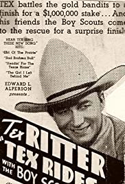 Tex Rides with the Boy Scouts Poster