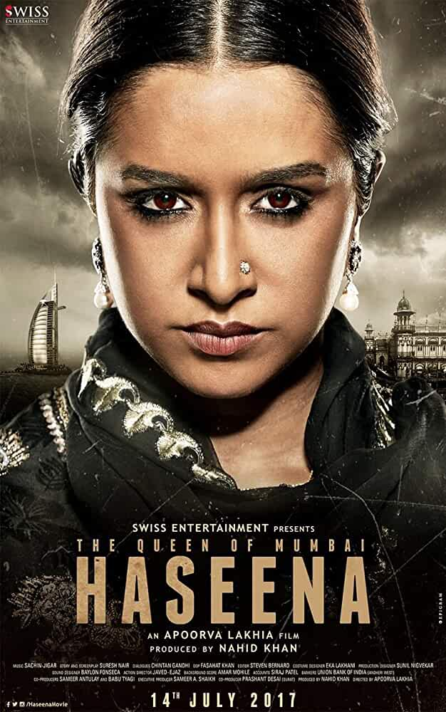 Poster Haseena parkar 2017 Full Movie Download Free 720p