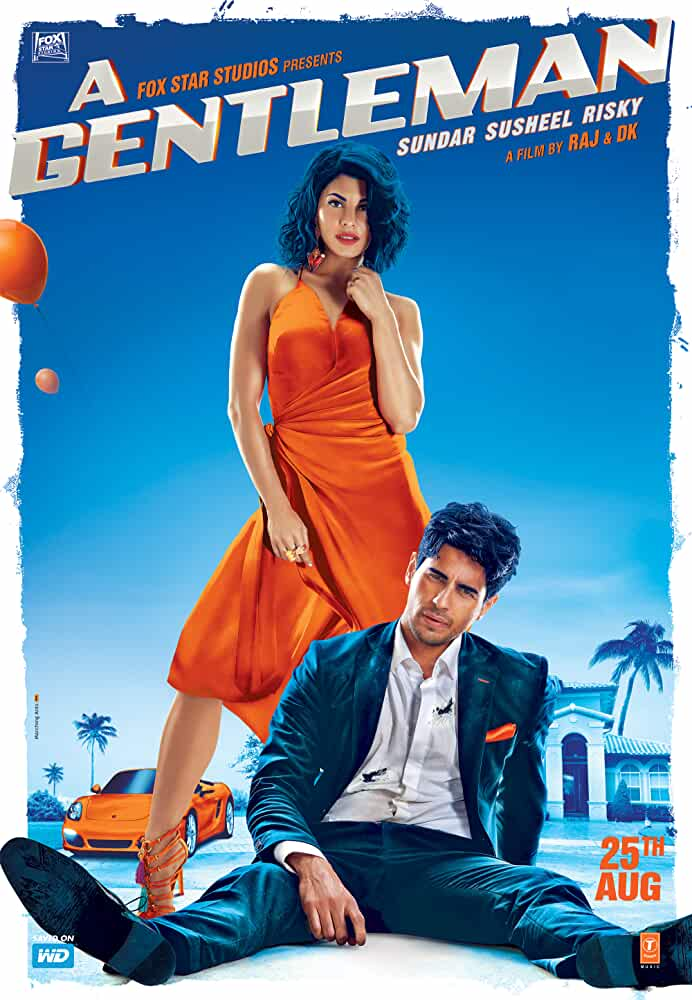 Poster A Gentleman (2017) Full HD Movie Download Free Hindi 720p