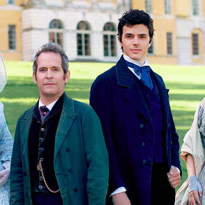 Rebecca Front, Tom Hollander, Harry Richardson, and Stefanie Martini in Doctor Thorne (2016)