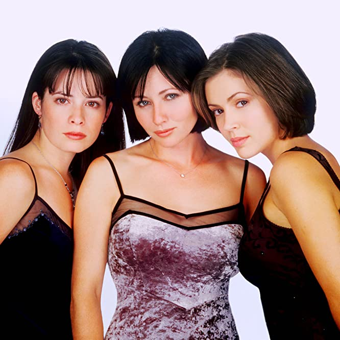 Alyssa Milano, Holly Marie Combs y Shannen Doherty in Charmed (1998)
