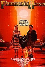 Flaming Hearts Poster