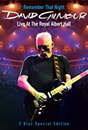 David Gilmour Remember That Night Poster