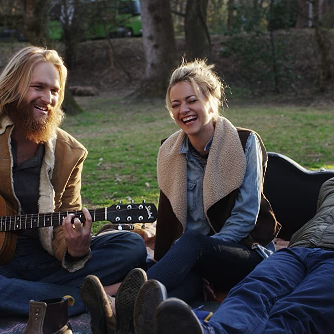 Wyatt Russell, Alex Karpovsky, and Meredith Hagner in Folk Hero & Funny Guy (2016)