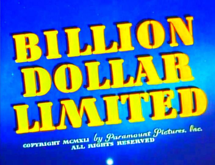 image Billion Dollar Limited Watch Full Movie Free Online