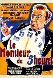 Le monsieur de 5 heures Poster