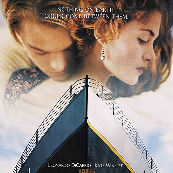 Leonardo DiCaprio, Kate Winslet, Kathy Bates, and Frances Fisher in Titanic (1997)
