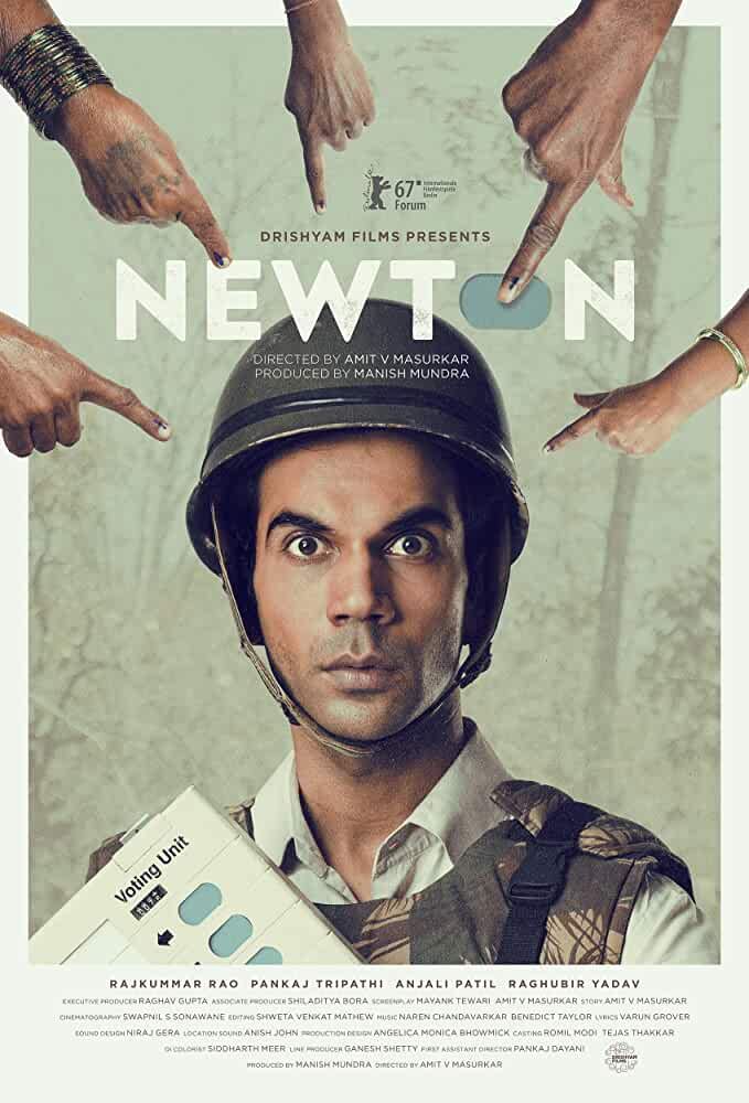 Poster Newton 2017 Full Movie HD Download Free Hindi