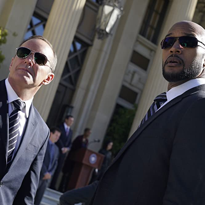 Henry Simmons and Clark Gregg in Agents of S.H.I.E.L.D. (2013)