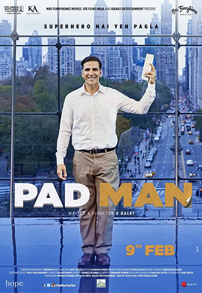 Padman (2018) Full Movie Hindi 720p DVDScr Free Download