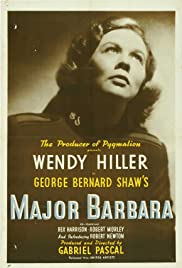 Major Barbara (1941) Poster - Movie Forum, Cast, Reviews