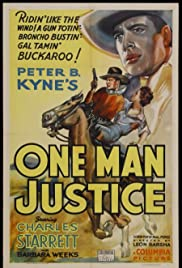 One Man Justice Poster