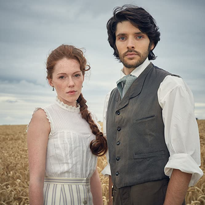 Charlotte Spencer and Colin Morgan in The Living and the Dead (2016)