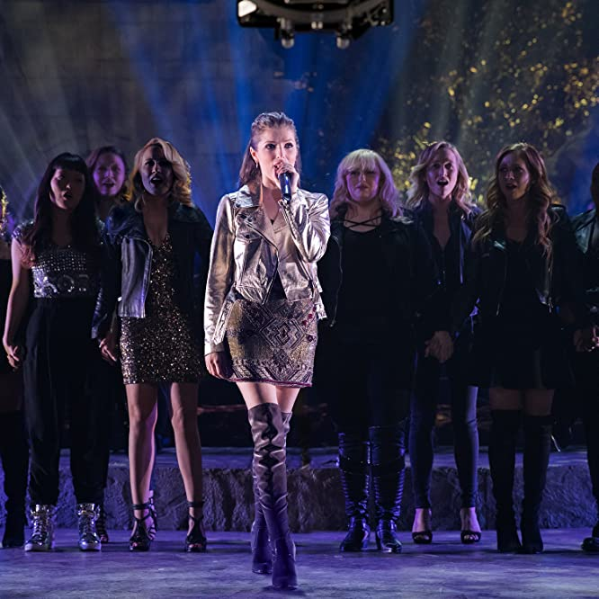 Anna Kendrick, Brittany Snow, Rebel Wilson, Anna Camp, Hana Mae Lee, Chrissie Fit, Ester Dean, Kelley Jakle, and Shelley Regner in Pitch Perfect 3 (2017)