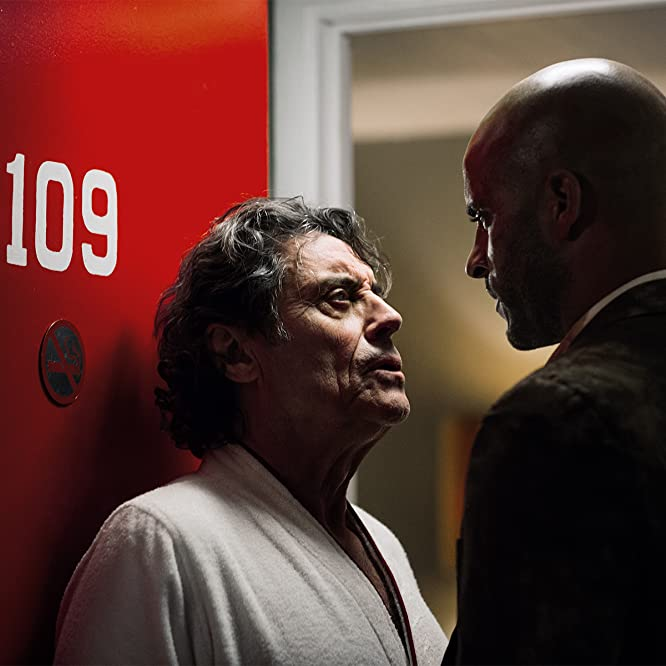 Ian McShane and Ricky Whittle in American Gods (2017)