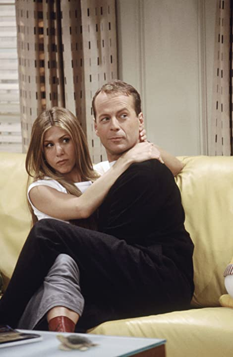 Jennifer Aniston and Bruce Willis in Friends (1994)
