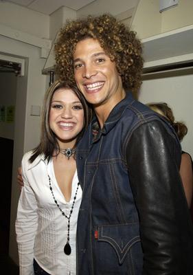 Kelly Clarkson and Justin Guarini