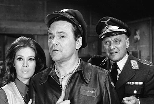 Bob Crane and Werner Klemperer in Hogan's Heroes (1965)